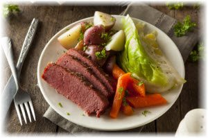Photo of corned beef and cabbage