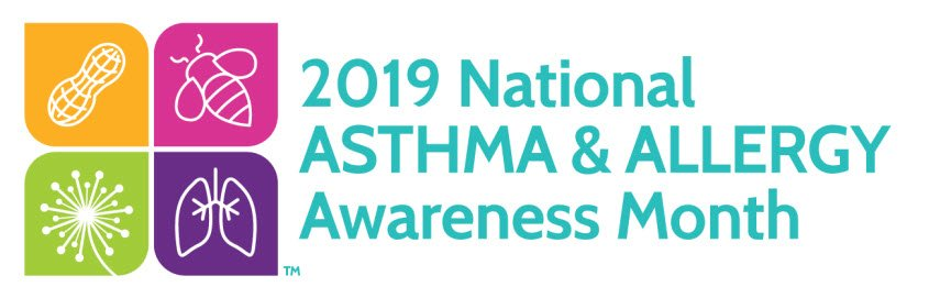 Graphic of national asthma month