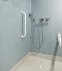 Shower equipment to help prevent falls