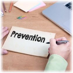 Graphic of the word Prevention