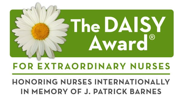 Graphic showing The Daisy Award logo