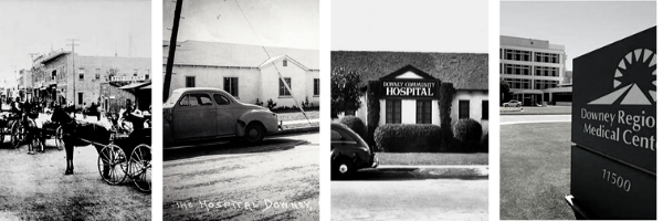 Historical photots of PIH Health Downey Hospital.