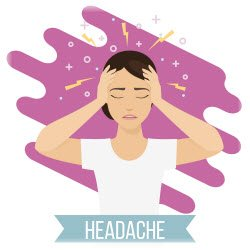 graphic image of woman with headache