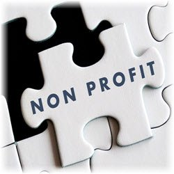 "Photo of a puzzle piece labeled ""Non Profit"""