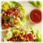 Photo of lettuce chicken wraps