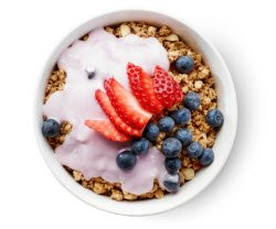 Healthy eating tips - granola and fruit