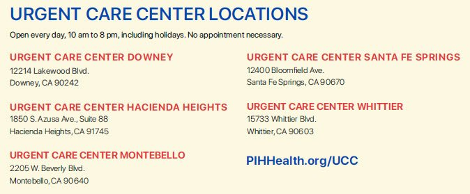 Photo of urgent care locations