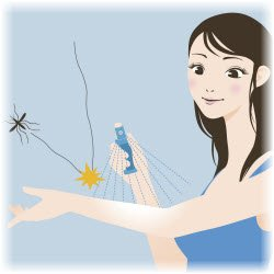 graphic image of a girl and a mosquito