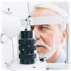 Photo of a man undergoing an eye examination