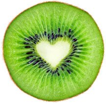 Heart shaped kiwi for Valentine's treat