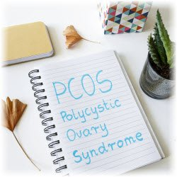 Graphic of PCOS spelled out