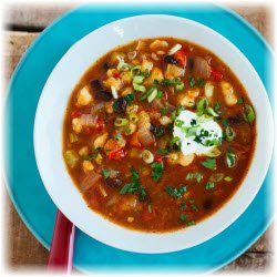 Photo of Black Bean and Hominy Soup
